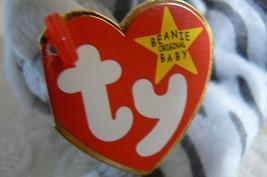 "Rare Ty Original Beanie Babies ""Prance"" The Grey Stripe Cat/Retired Errors Mint image 8"