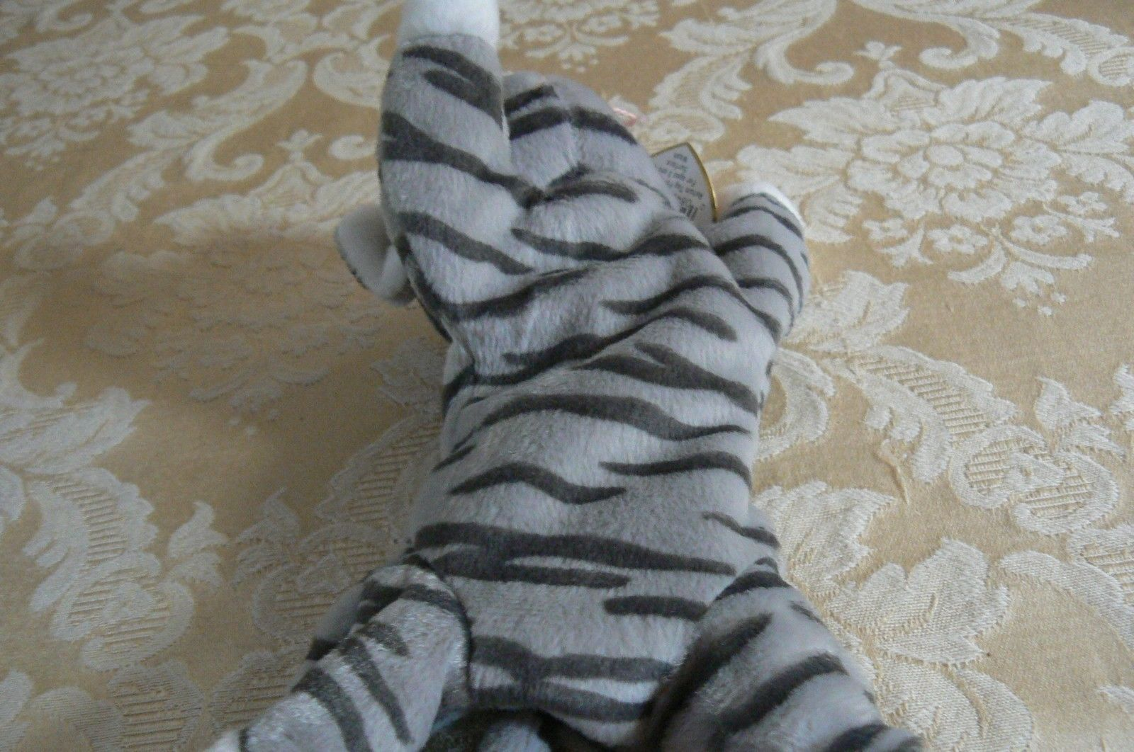 "Rare Ty Original Beanie Babies ""Prance"" The Grey Stripe Cat/Retired Errors Mint image 5"