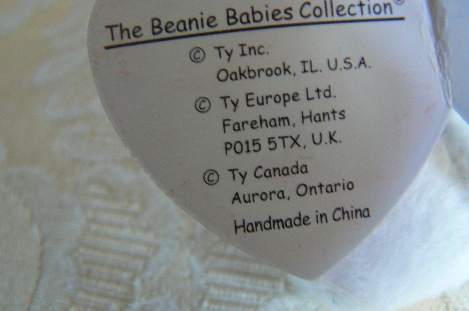 "Rare Ty Original Beanie Babies ""Prance"" The Grey Stripe Cat/Retired Errors Mint image 9"