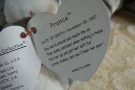 "Rare Ty Original Beanie Babies ""Prance"" The Grey Stripe Cat/Retired Errors Mint image 10"