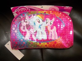HASBRO MY LITTLE PONY SEQUIN PINK UTILITY CASE ~ SCHOOL SUPPLIES  HTF - $13.10
