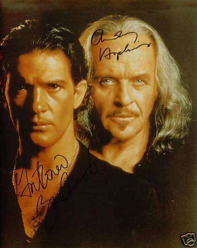 ANTONIO BANDERAS AND ANTHONY HOPKINS AUTOGRAPHED 8x10 RP PHOTO