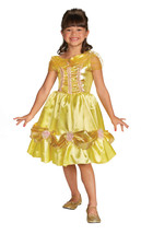 "Girl's Size 3T  Belle ""Sparkle"" Child Classic Satin Costume Licensed  - $39.45"