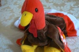 "Rare Ty Original Beanie Babies ""Gobbles"" The Turkey/Retired Errors Mint image 2"