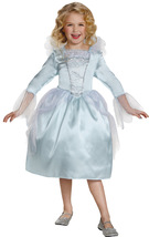 Girls New Cinderella Movie Classic Fairy Godmother White Satiny Dress/Ha... - £30.27 GBP