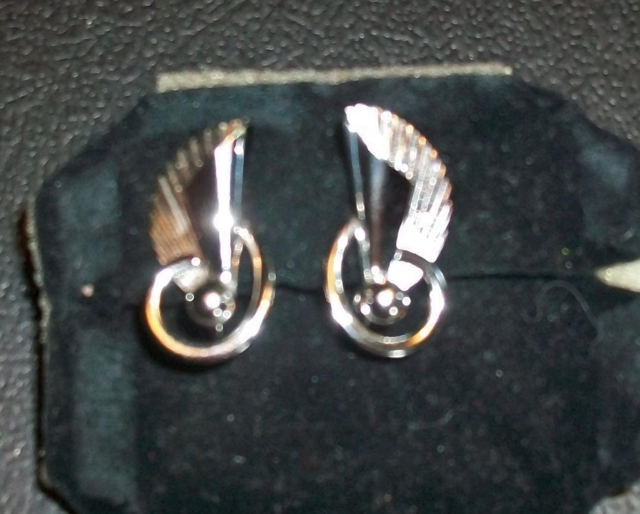 Two Pair of Vintage Sterling Silver Earrings Carl Art Screw Backs