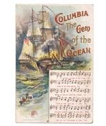 Columbia Gem of the Ocean Music Chas Rose Embossed Postcard c 1912 - $6.69