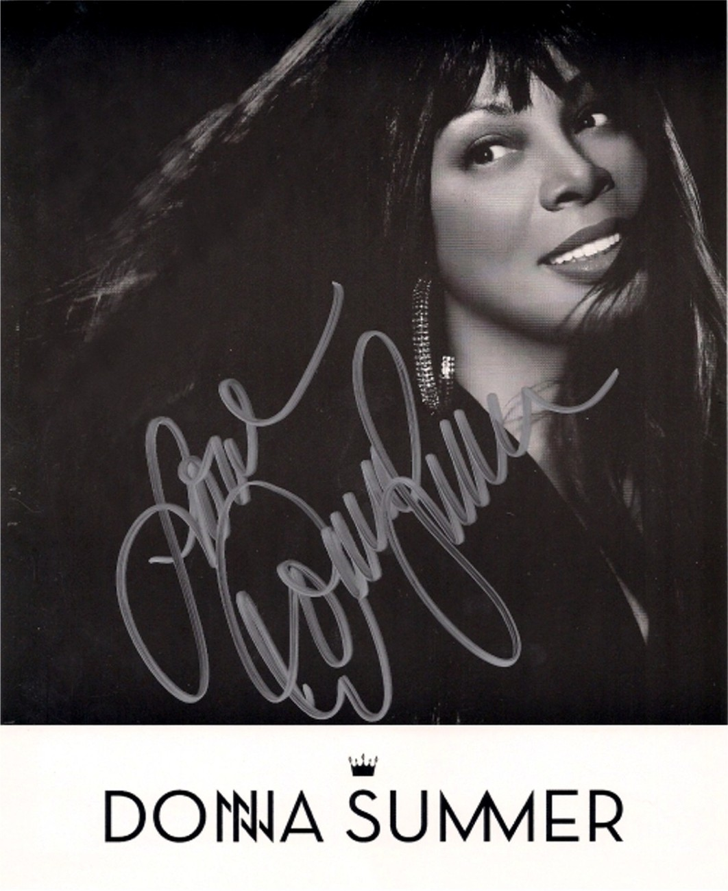 DONNA SUMMER AUTOGRAPHED 8x10 RP PHOTO BEAUTIFUL DISCO QUEEN