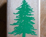 """CRAFTS Rubber Stamp TREE by Comotion Stamps 1993 #747 Wooden 2-1/4"""" x 1-1/2"""" EUC"""