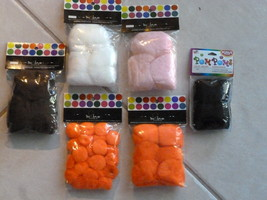 Crafts POM POMS Lot of 43 Assorted Colors and S... - $7.99