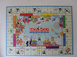 GAME MONOPOLY JUNIOR BOARD ONLY Replacement Piece Part NEW - $5.39