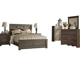 Ashley Juararo 6PC Cal King Panel Bedroom Set - Brown - $2,370.19
