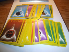 (100) Random Energy Cards Pokemon Set Psychic Fire Fighting Water Leaf G... - $9.99