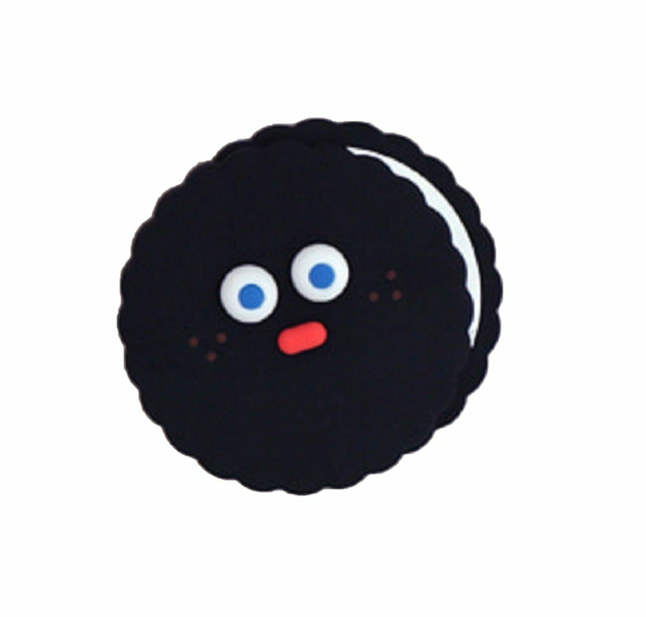 Brunch Brother popped Eye Handheld Mirror Makeup Hand Mirror (Black Pompom)
