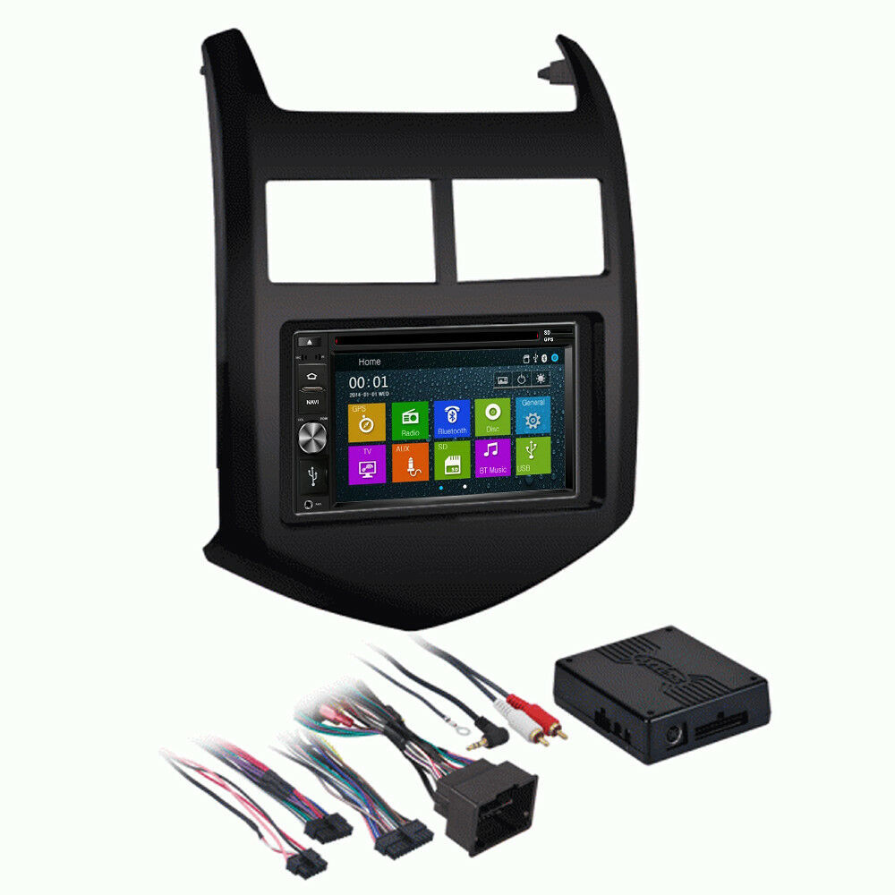 DVD GPS Navigation Multimedia Radio and Dash Kit for Chevy Chevrolet Sonic 2016