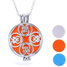 Large Round Filigree Aromatherapy Scent Diffuser Locket Necklace - $35.99