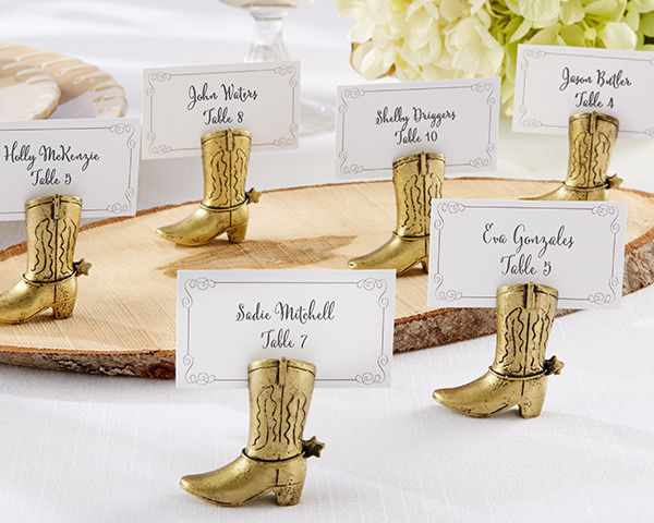 Cowboy Boot Place Card Holder (Set of 24)