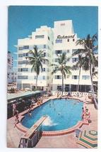New Richmond Hotel Swimming Pool Miami Beach FL Florida Postcard 1961 - $6.69
