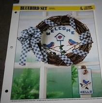 BLUEBIRD SET   PLASTIC CANVAS PATTERN FROM ANNIE'S - $2.96