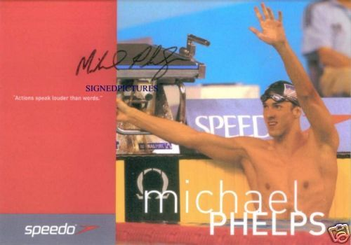 MICHAEL PHELPS SIGNED AUTOGRAPHED 6x8 RP PHOTO OLYMPIC GOLD MEDALIST
