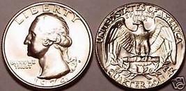 1974-D BRILLIANT UNCIRCULATED WASHINGTON QUARTER~FR/SHI - $3.62