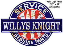 Distressed Willys Knight Laser Cut Out 18×23.5 Metal Sign - $51.48