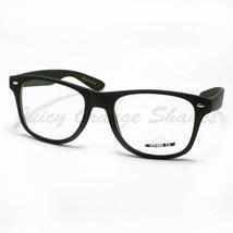 Clear Lens Eyeglasses Classic Square Horn Rim Vintage Frames Matte Finish - $6.95