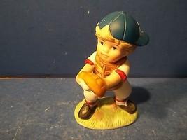 Vintage Homco Little Boy Baseball Catcher Figurine  #1468 - $10.99