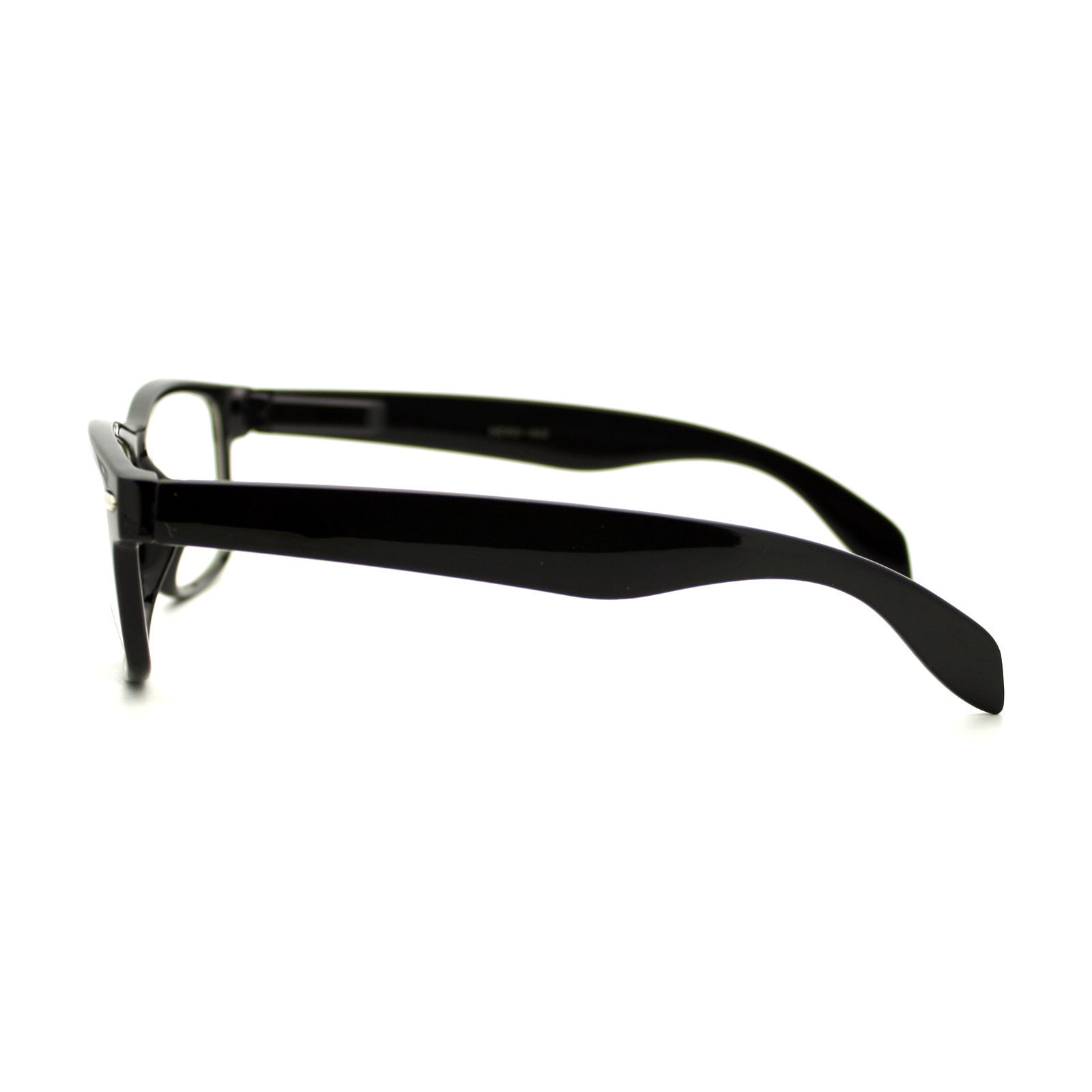 Designer Fashion Clear Lens Glasses Unisex Rectangular Horn Rim