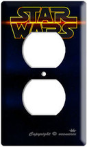 NEW STAR WARS DARK DEEP SPACE LOGO EMBLEM OUTLET WALL PLATE COVER LORD V... - $8.99