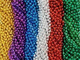 144 6 Bright Colors Mardi Gras Gra Beads Necklaces Party Favors Huge Lot... - $18.75