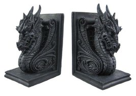 Bookend Gothic Dragon Bookends Midieval Book Ends Evil Medieval 8266 Kit... - £37.87 GBP