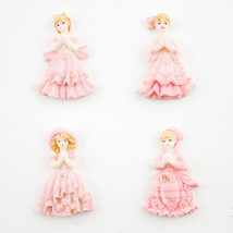 Lot of 24 pcs Quinceanera Sweet 15 Pink Miniature Figurines Cute Party F... - $5.89