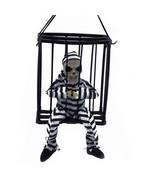 Hanging Skeleton Caged Jail Prisoner Halloween Decoration Light Up Skull... - €16,66 EUR