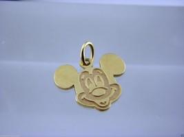 Disney Waving Mickey Charm in 14 kt Yellow Gold Circa 1998. - $163.35