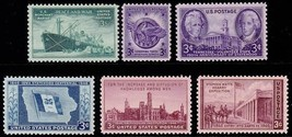 1946 Year Set of 6 Commemorative Stamps Mint NH - Stuart Katz - $5.00