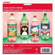 Christmas Holiday Beverage Soda 2 Liter Bottle Labels 4 Ct Party - $4.95 CAD