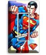 SUPERMAN SUPERHERO SINGLE GFCI LIGHT SWITCH WAL... - $7.99