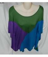 Anna Lee & Hope Size Large Tri-color Summer Tunic NWT - $17.99