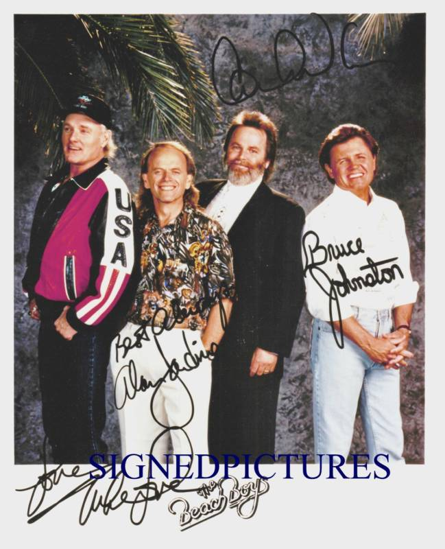 THE BEACH BOYS AUTOGRAPHED 8x10 RP PROMO PHOTO ALL 4  CALIFORNIA DREAMING
