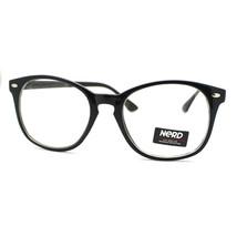 Unisex Clear Lens Eyeglasses Round Keyhole Nerd Fashion Frames - $7.95