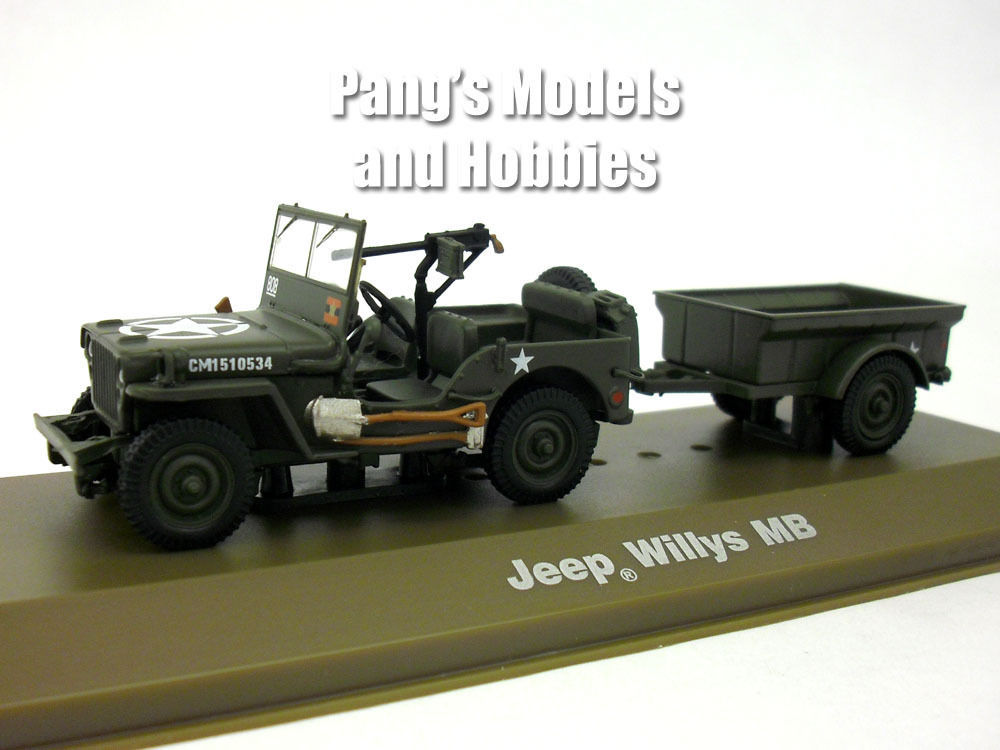 Willys MB Jeep with Bantam T3 Trailer – Canadian Army 1/43 Scale Diecast Model