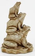 Frogs Stack Concrete Statue  - $59.00