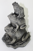 Frogs Stack Concrete Statue  - $59.00