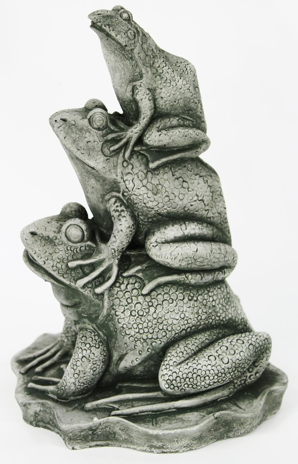 Frogs Stack Concrete Statue