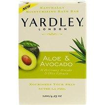 Yardley Bar Soap, Botanical Aloe & Avocado, 4.2... - $4.63