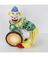 Vintage Clown Drum Circus Gin Decanter 1940's Hand Painted Liquor Bottle... - $28.04