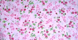 Pink Light weight Floral Cotton Fabric   - $5.00
