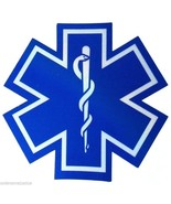 """STAR OF LIFE 14"""" x 14"""" Decal - HIGHLY REFLECTIVE AMBULANCE DECAL - Star ... - $39.55"""