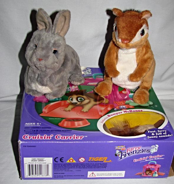 Furreal Friends(3) Bumper McBones NIB-Chipmonk & baby bunny Pre-Owned